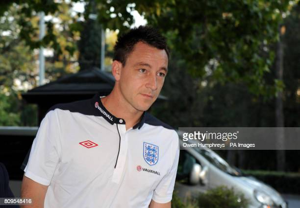 England captain John Terry arrives ahead of the press conference at the Hotel Crna Gora Podgorica Montenegro