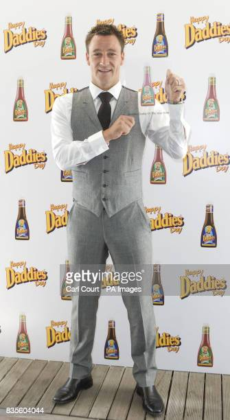 England Captain John Terry receives the 2009 Daddies Sauces 'Dad of the Year' award at the Penthouse in central London