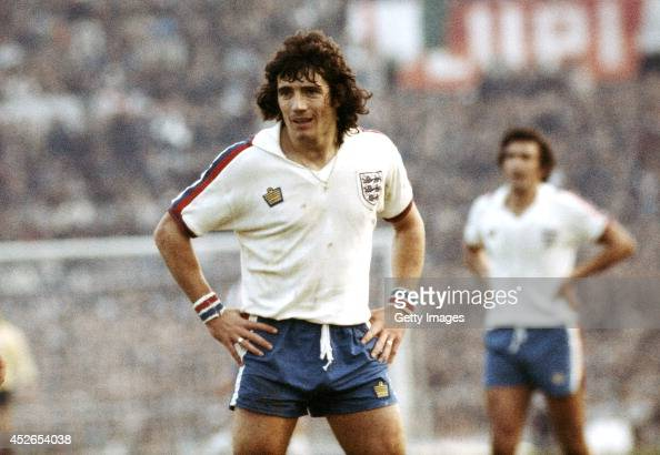 England captain Kevin Keegan looks on during the FIFA World Cup qualifier between Italy and England at the Olympic Stadium in Rome on November 17 1976