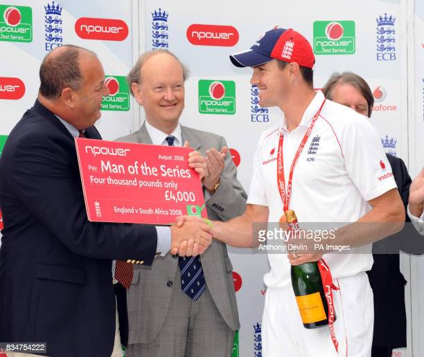 England captain Kevin Pietersen is named Man of the Series following the final test match between England and South Africa at the Brit Oval London