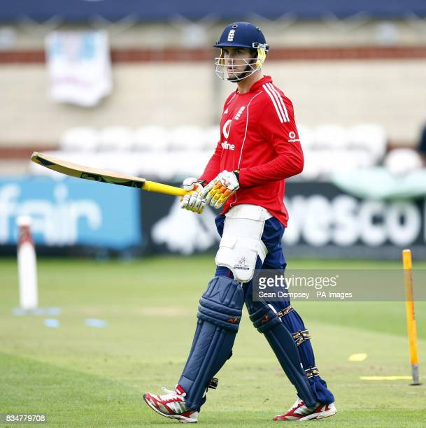 England captian Kevin Pietersen during the nets session at The Oval London