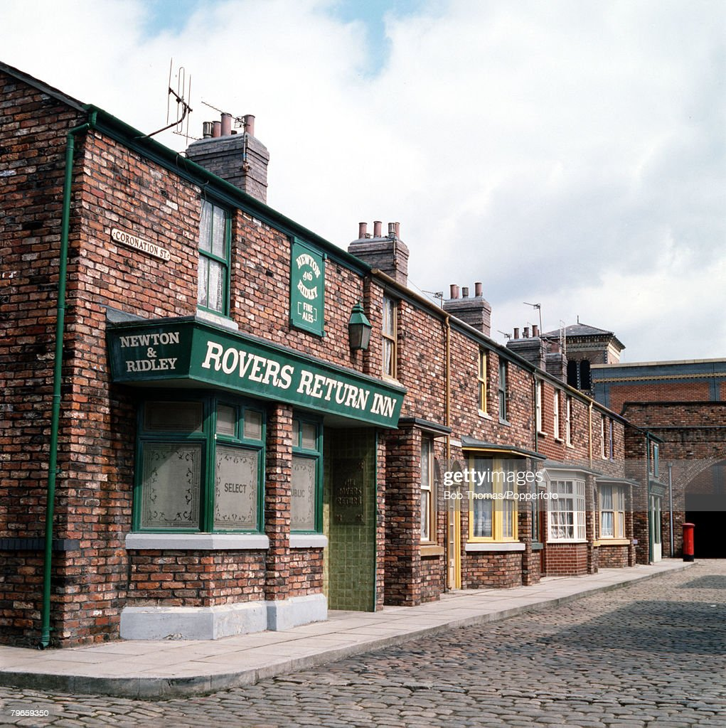England, Circa 1970, The 'Rovers Return Inn' from the television series Coronation Street