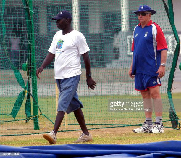England coach Duncan Fletcher at the Police Sports Club Weymouth Barbados