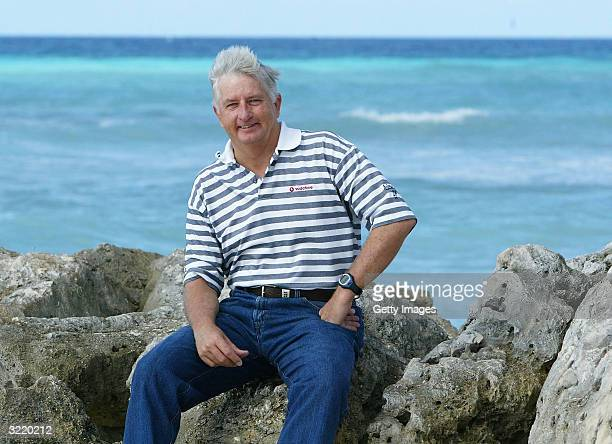 England Coach Duncan Fletcher relaxes on the beach at the Turtle Bay Hotel on April 5 2004 in Bridgetown Barbados