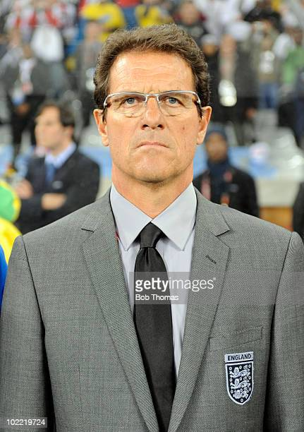 England coach Fabio Capello before the start of the 2010 FIFA World Cup South Africa Group C match between England and Algeria at Green Point Stadium...