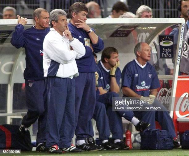 LEAGUE England coach Kevin Keegan watches his team in action against France during the International friendly against France at the Stade de France...