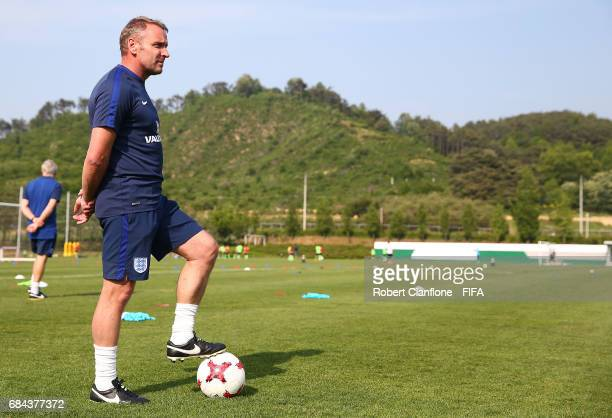 England coach Paul Simpson is seen during an England training session at the Jeonbuk FC Training Field ahead of the FIFA U20 World Cup on May 18 2017...