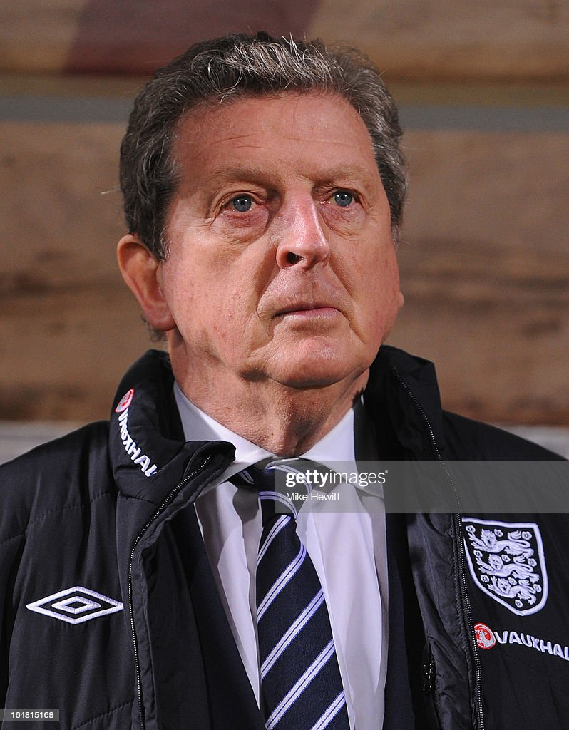 England coach Roy Hodgson looks on during the FIFA 2014 World Cup Group H Qualifier between Montenegro and England at City Stadium on March 26, 2013 in Podgorica, Montenegro.