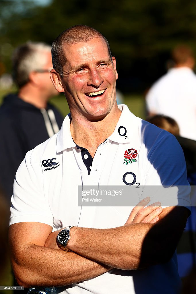 England coach Stuart Lancaster during the England Rugby Squad Community Day at Ponsonby RFC on May 31 2014 in Auckland New Zealand