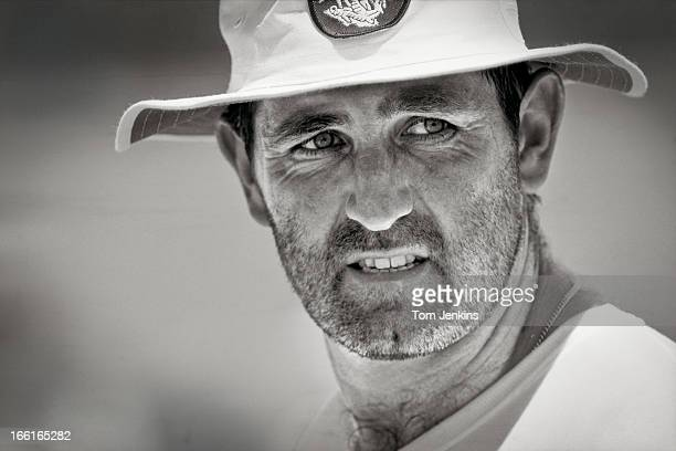 England cricket captain Graham Gooch during net practice before the 3rd Ashes test match against Australia at the Sydney cricket ground on January...