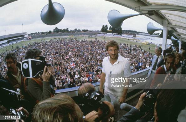 England cricket captain Ian Botham is interviewed after his historic performance in the third test match against Australia at Headingley 16th21st...