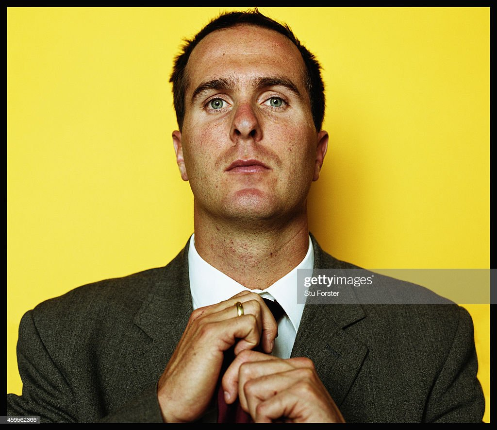 England cricket captain Michael Vaughan pictured in April 2003 in Sheffield England