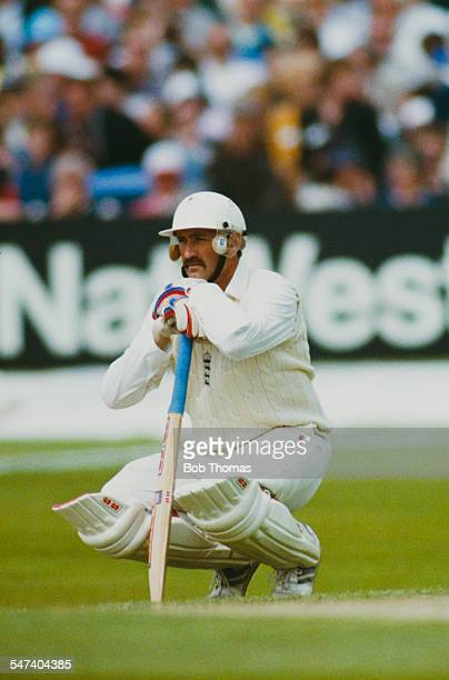 England cricketer Graham Gooch during the 1st Cornhill Test Match between England and the West Indies at Headingley Leeds June 1991