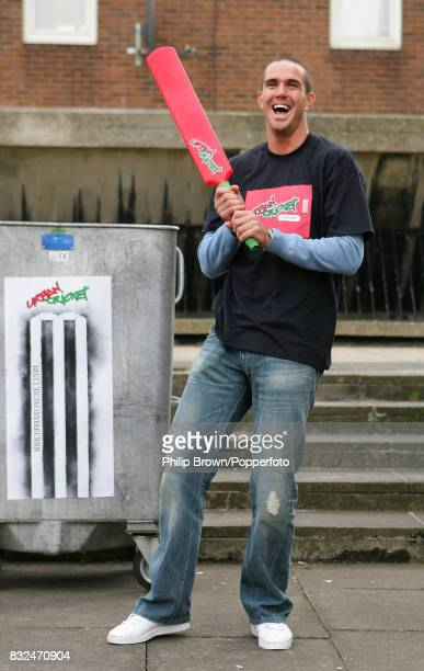 England cricketer Kevin Pietersen at the launch of Urban Cricket a joint initiative between ECB and sponsors npower at Bromyard House West London 2nd...