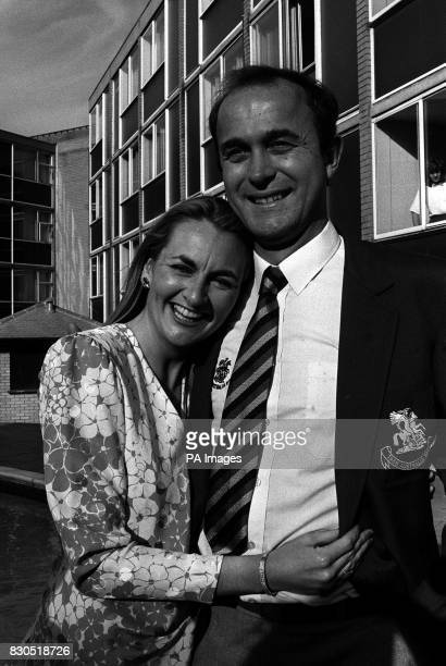 England cricketer Phil Edmonds with his wife Frances in London before the team departs for the Ashes tour in Australia