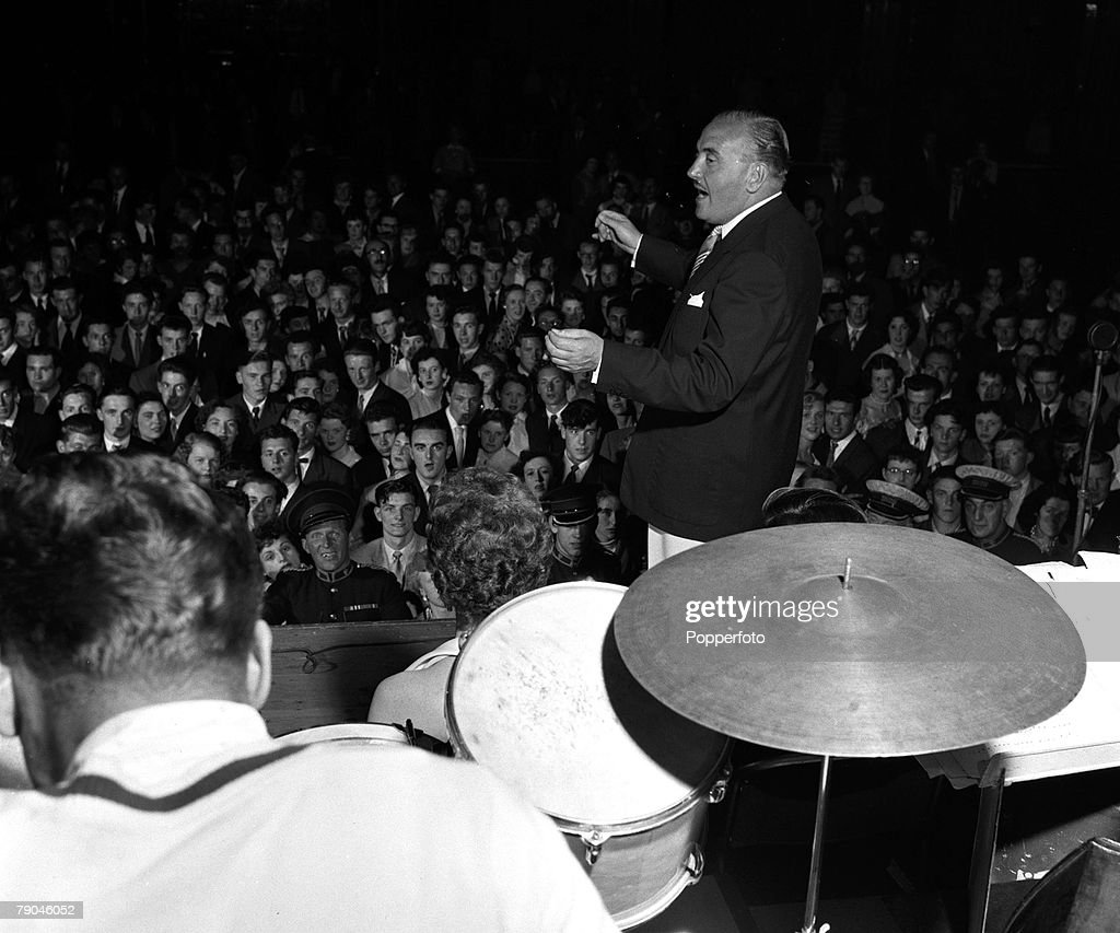 england 1954 dance band leader ted heath and his band are