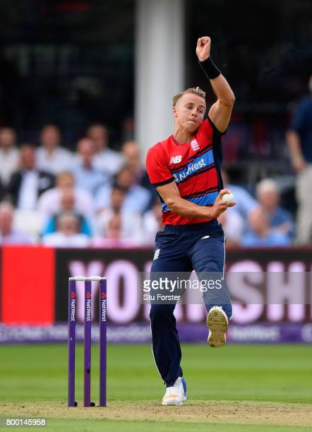 England debutant Tom Curran in action during the 2nd NatWest T20 International between England and South Africa at The Cooper Associates County...