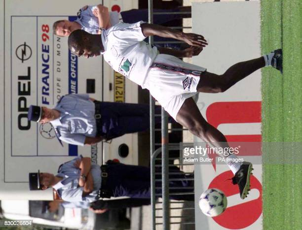 England defender Sol Campbell gets back to training after time off for a dead leg in La Boule near Nantes France today Wednesday Photo by Adam...