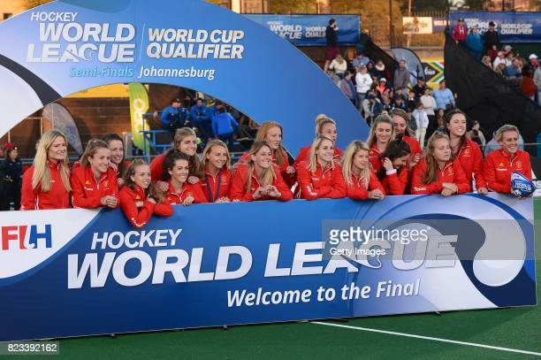 England during day 9 of the FIH Hockey World League Women's Semi Finals at Wits University on July 23 2017 in Johannesburg South Africa