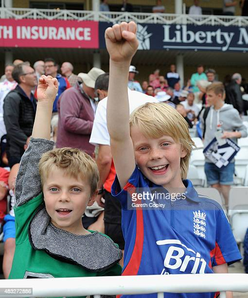 England fans ahead of day two of the 4th Investec Ashes Test match between England and Australia at Trent Bridge on August 7 2015 in Nottingham...