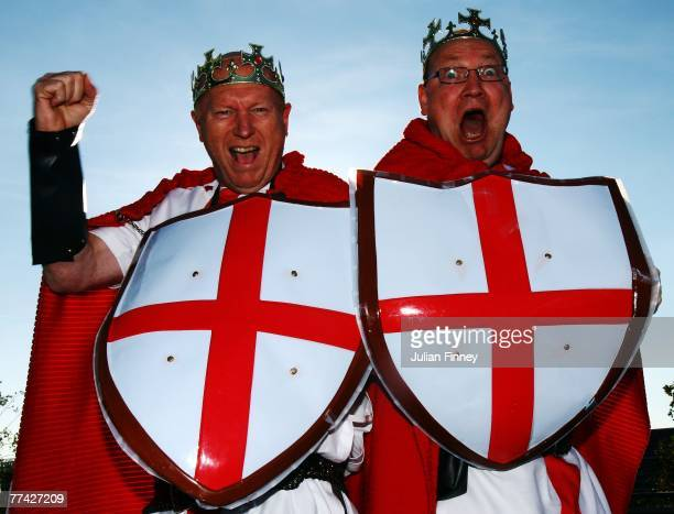 England fans enjoy the atmosphere outside the ground prior to the 2007 Rugby World Cup Final between England and South Africa at the Stade de France...
