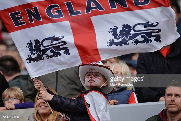 England fans enjoying the build up to the International Friendly match between England and Australia at Stadium of Light on May 27 2016 in Sunderland...