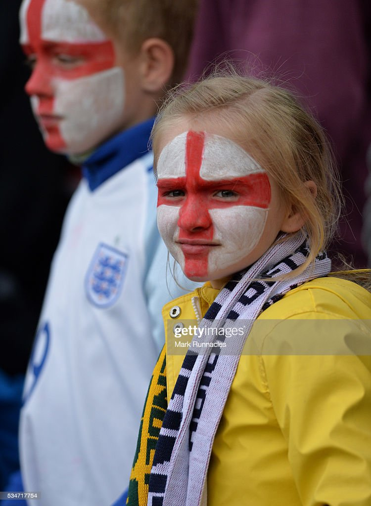 England fans enjoying the build up to the International Friendly match between England and Australia at Stadium of Light on May 27, 2016 in Sunderland, England.