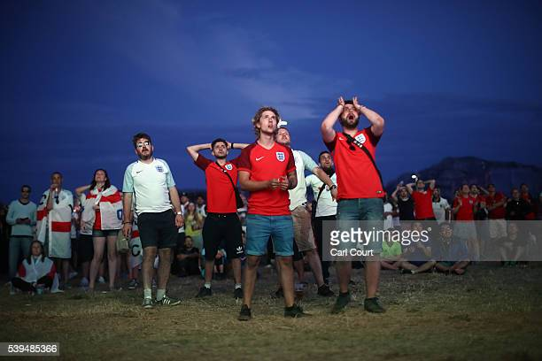 England fans react to the game against Russia on June 11 2016 in Marseille France Football fans from around Europe have descended on France for the...