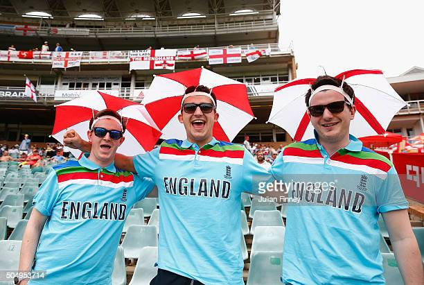 England fans show their support during day one of the 3rd Test at Wanderers Stadium on January 14 2016 in Johannesburg South Africa