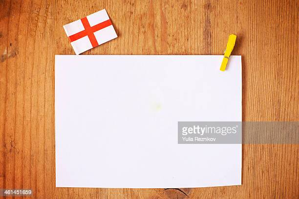 England flag with white letterhead