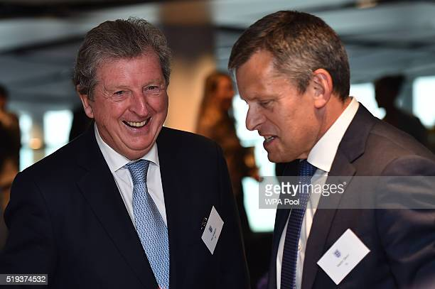 England football manager Roy Hodgson and Chief Executive Officer of the FA Martin Glenn attend a reception ahead of a Council Lunch to celebrate the...