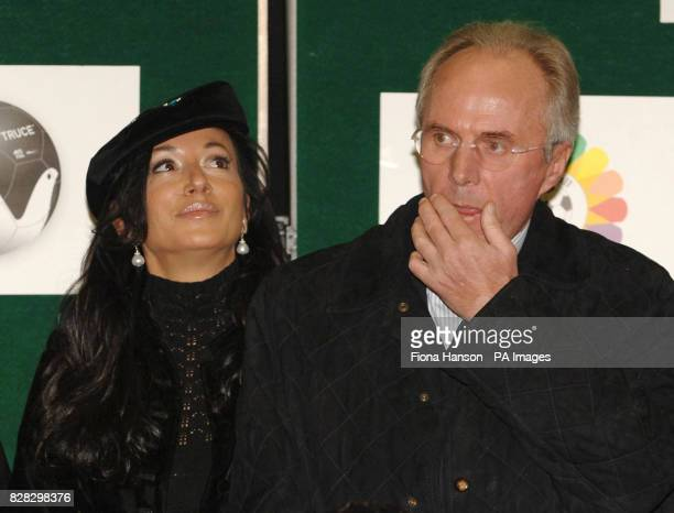 England football manager Sven Goran Eriksson and his partner Nancy Dell'Olio in south east London Wednesday January 18 during the launch of The...