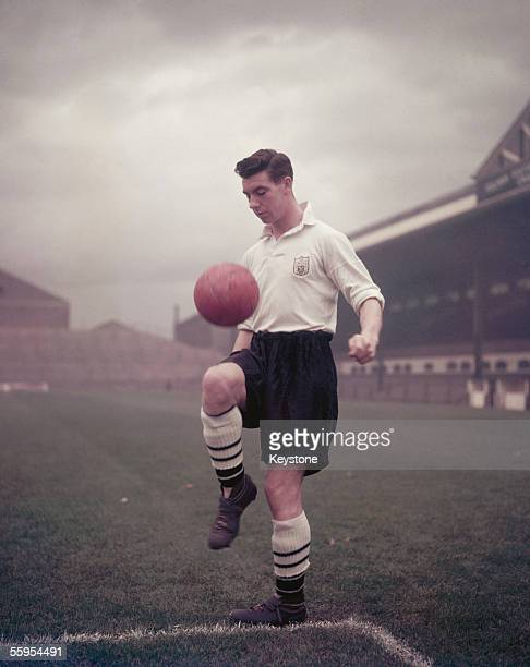 England footballer and Fulham Football Club captain Johnny Haynes circa 1955