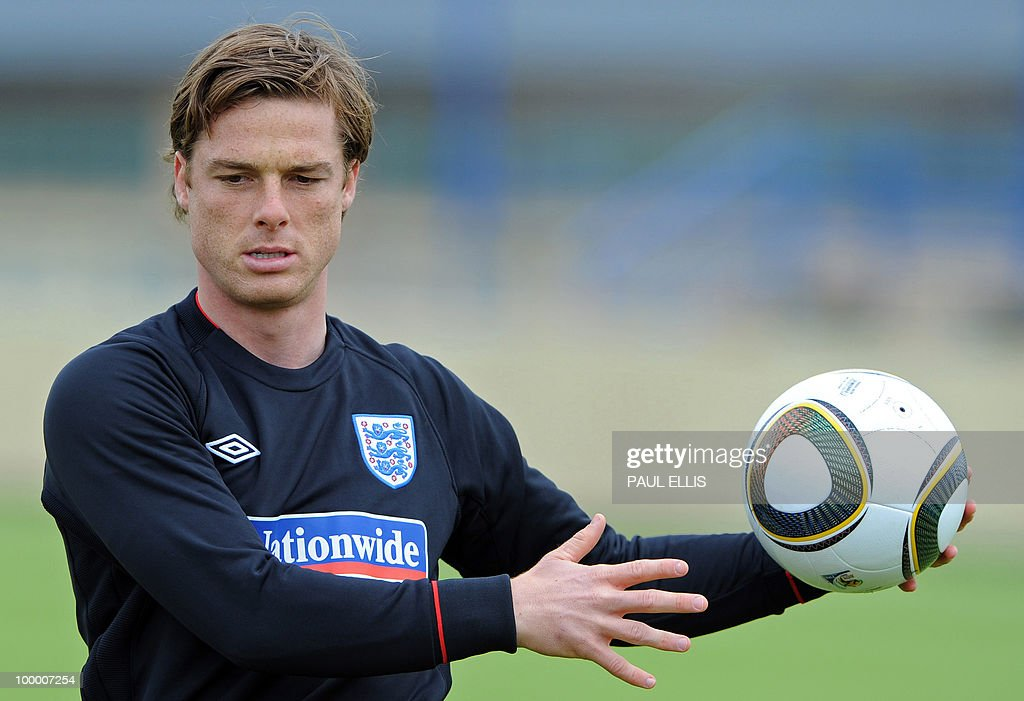 England footballer Scott Parker stretches during a team training session in Irdning, Austria on May 19, 2010 ahead of the World Cup Finals in South Africa.