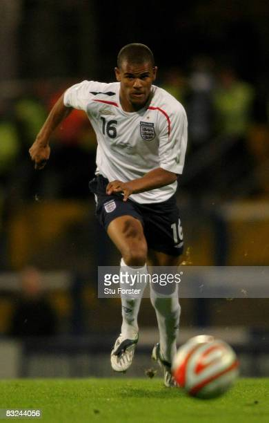 England forward Fraizer Campbell makes a run during the UEFA U21 Championship Playoff first leg game between Wales U21 and England U21 at Ninian Park...
