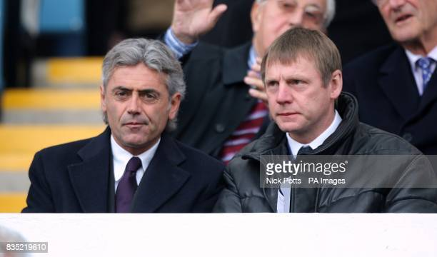 England general manager Franco Baldini and England Under21 manager Stuart Pearce in the stands