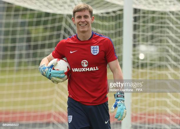 England goalkeeper Dean Henderson during an England U21 FIFA World Cup training session at the Jeonju World Cup Stadium Auxiliary Field on May 30...