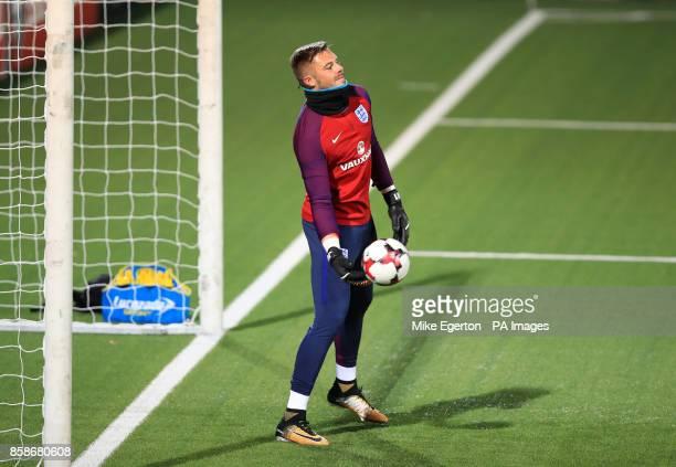 England goalkeeper Jack Butland during the training session at the LFF Stadium Vilnius