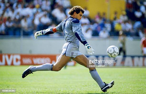 England goalkeeper Peter Shilton in action during the FIFA 1986 World Cup group match between England and Poland on June 11 1986 in Monterrey Mexico