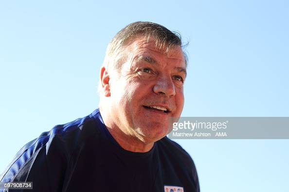 England head coach / manager Sam Allardyce at St Georges Park on August 30 2016 in BurtonuponTrent England