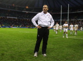 England head coach Stuart Lancaster looks dejected after the RBS 6 Nations match between England and Wales at Twickenham Stadium on February 25 2012...
