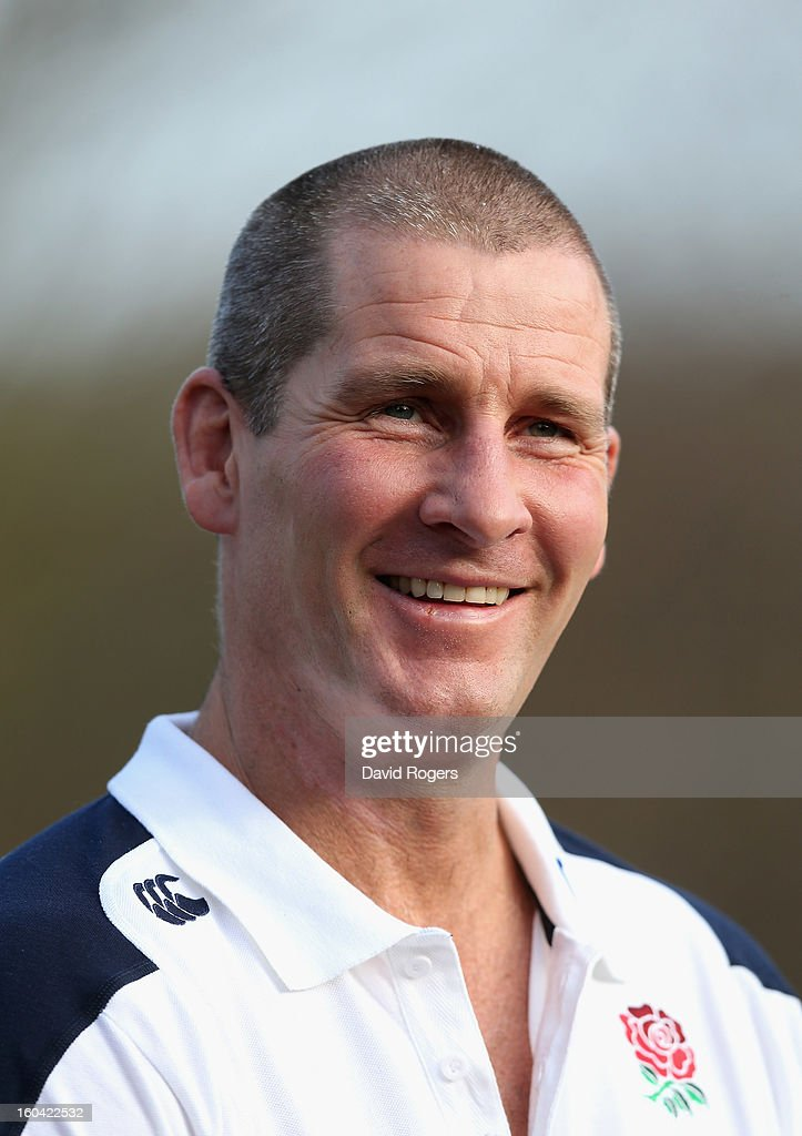 England head coach <a gi-track='captionPersonalityLinkClicked' href=/galleries/search?phrase=Stuart+Lancaster&family=editorial&specificpeople=2263180 ng-click='$event.stopPropagation()'>Stuart Lancaster</a> talks to the media after an England training session at Pennyhill Park on January 31, 2013 in Bagshot, England.