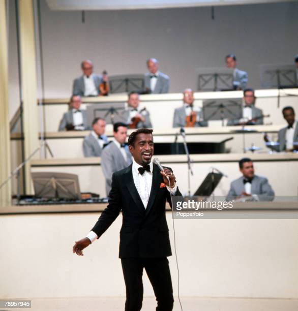 England Legendary American singer actor and entertainer Sammy Davis Jnr is pictured performing