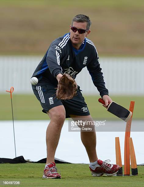 England limited overs coach Ashley Giles during a nets session at Cobham Oval on February 2 2013 in Whangarei New Zealand