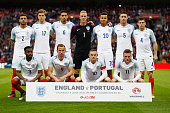 England line up prior to the international friendly match between England and Portugal at Wembley Stadium on June 2 2016 in London England