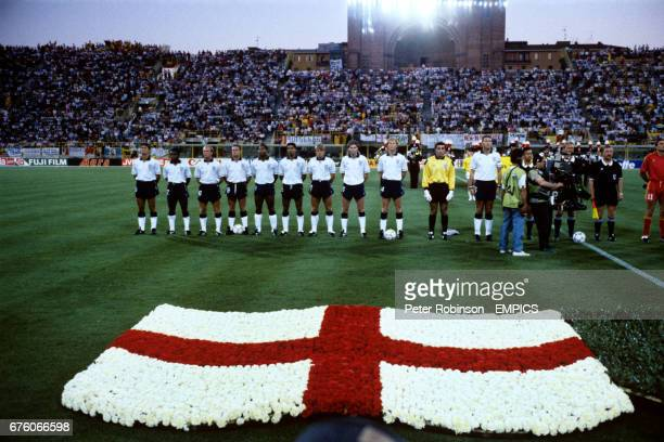 England line up to face Belgium Gary Lineker Paul Parker Steve McMahon Paul Gascoigne John Barnes Des Walker Stuart Pearce Chris Waddle Mark Wright...