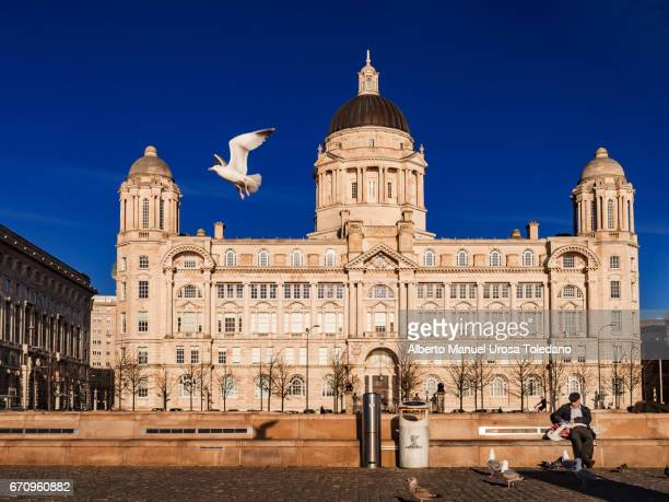 England, Liverpool, Pier Head, Port of Liverpool Building