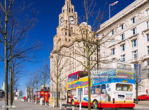 England, Liverpool, Pier Head - Sightseeing bus tour