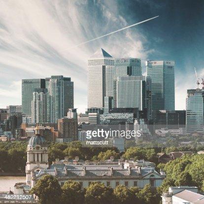 Vereinigtes Königreich, England, London Canary Wharf, die Stadt