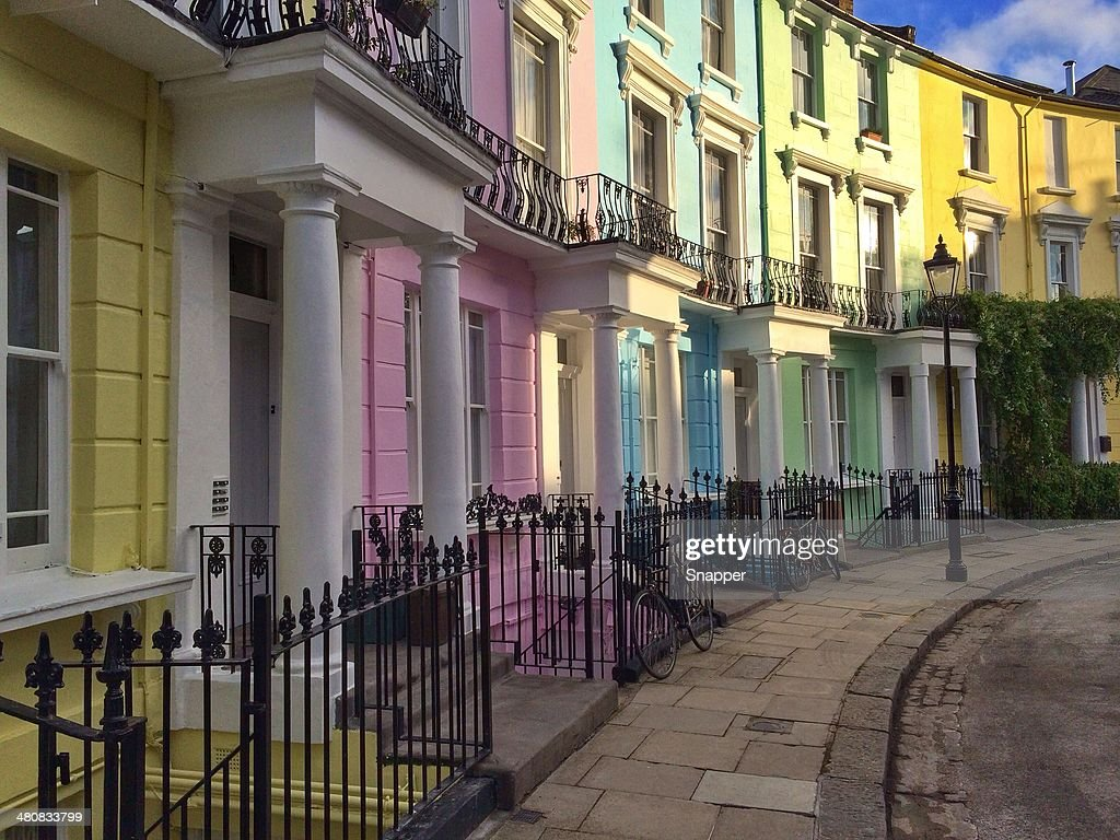 vereinigtes k nigreich england london bunte h user in primrose hill stock foto getty images. Black Bedroom Furniture Sets. Home Design Ideas